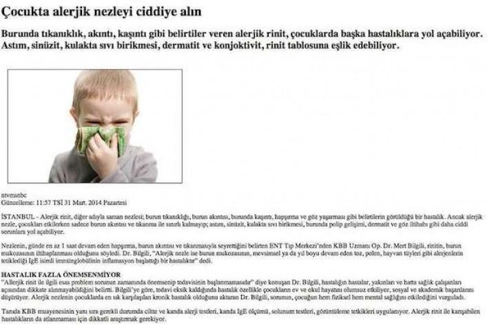 NTVMSNBC İnternet Sitesi 31 Mart 2014